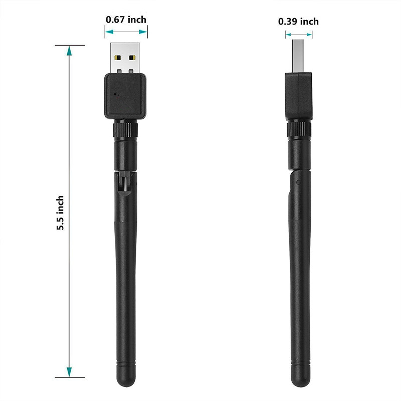 Mini 150Mbps WIFI USB Adapter with External antenna